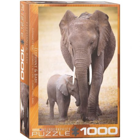 buy Eurographics 6000-0270 Elephant and Baby 1000-Piece Puzzle from sbcornerstore.com