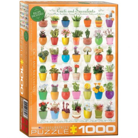 buy Eurographics 6000-0654 Cacti and Succulents Jigsaw Puzzle (1000-Piece) from sbcornerstore.com