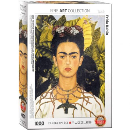 buy Eurographics 6000-0802 Frida Kahlo-Self Portrait with Thorn Necklace and Hummingbird 1000 Piece Puzzle from sbcornerstore.com