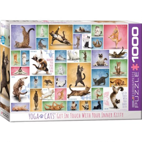 buy Eurographics 6000-0953 Yoga Cats Puzzle (1000 Piece) from sbcornerstore.com