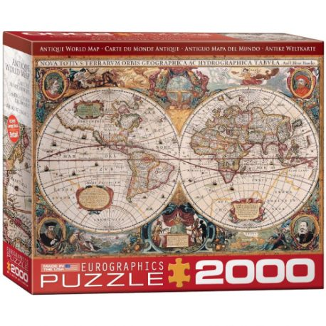buy Eurographics Antique Map of The World Jigsaw Puzzle (2000-Piece) from sbcornerstore.com